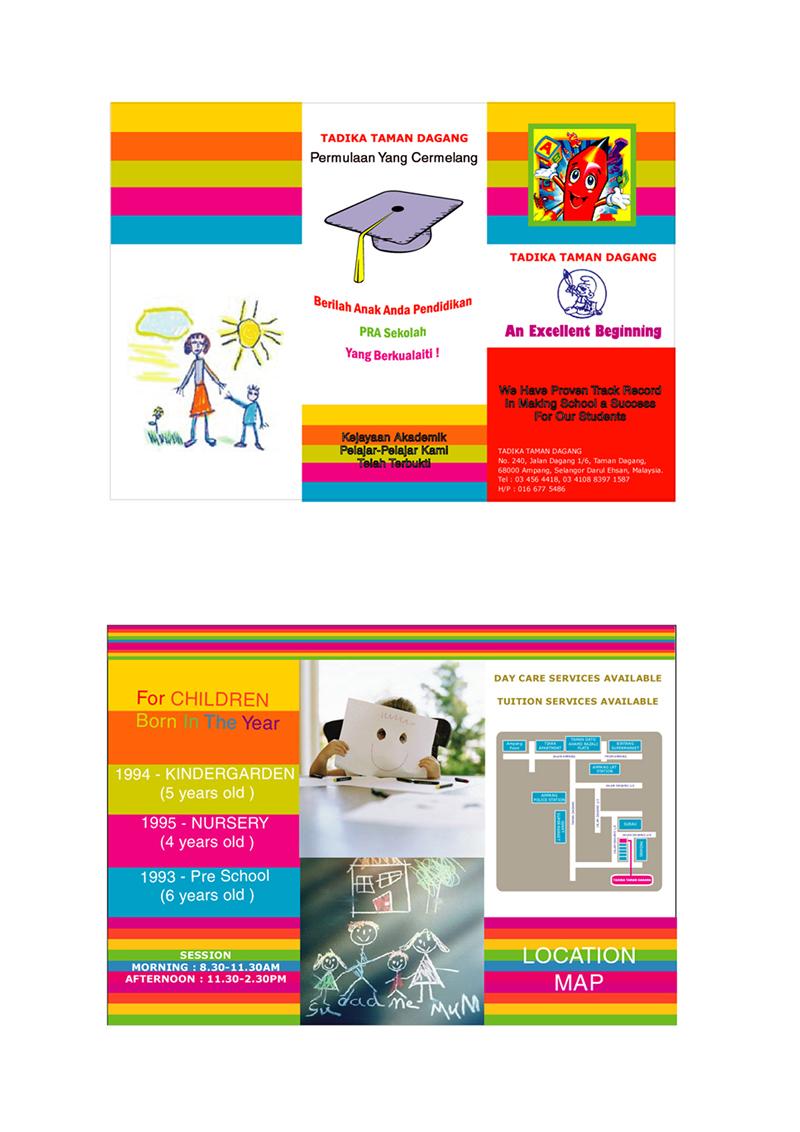 Webthris Graphic Design graphic designing creative director – Kindergarten Brochure Template
